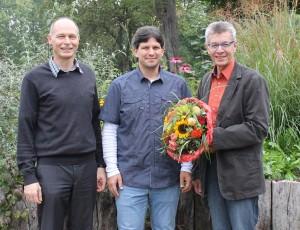 Schulleiter Udo Nonnenmacher, Gerald Böhm, Jugendreferent Hans-J.Saknus