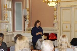 Prof. Havva Engin beim Vortrag