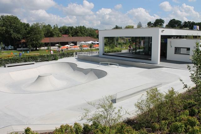 Künftiger Jugendpavillon mit Skatepark